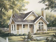 Springdale Country Cabin Home Plan 007D-0105   House Plans and More