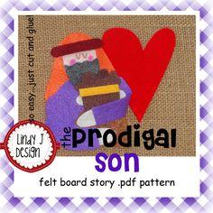 The Prodigal Son Bible Story Flannel/Felt Board .PDF Pattern. $5.00, via Etsy.