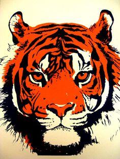 Tiger silkscreen by Netdog.deviantart.com on @deviantART