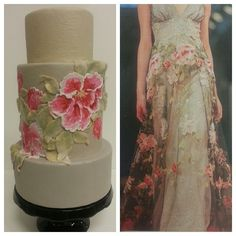 Claire Pettibone Raven Wedding Dress Inspired cake by The Butter End Cakery, Santa Monica, CA