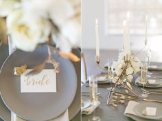 Modern Wedding Inspiration with Gray and Gold   Pinterest   Modern ...