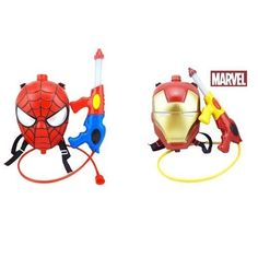 Backpack Water Gun Toys The Avengers Spiderman-Iron Man Summer Beach Outdoor Toy