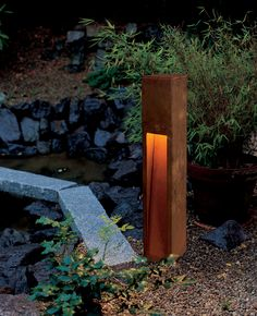 Utendørs gulvlampe Rusty Slot SLV - Lilly is Love Outdoor Deck Lighting, Driveway Lighting, Outdoor Floor Lamps, Bollard Lighting, Outdoor Post Lights, Outdoor Flooring, Landscape Lighting, Pathway Lighting, Outdoor Pool