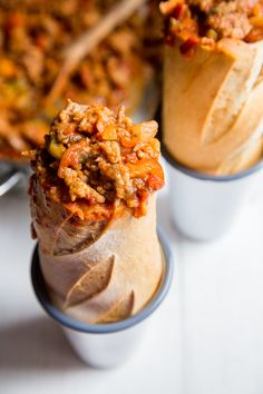 Spicy Italian Stuffed Subs - One pot is all you need for these meat filled sub…