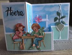 Art Impressions, Scrapbook Cards, Scrapbooking, Folded Cards, Boy Or Girl, Decoupage, Bubbles, Creations, Happy Birthday