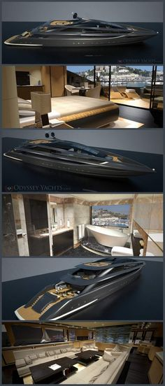Motor Yacht Veloce by Odyssey Yacht Design - Style Estate Yacht Design, Boat Design, Design Design, Yachting Club, Bateau Yacht, Private Yacht, Yacht Interior, Cool Boats, Charter Boat