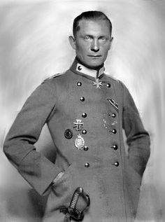 "Herman Goering during his glory days in WW1. A totally different man from the corrupted obese, drug-addicted ""marshal"" of the Hitler days."