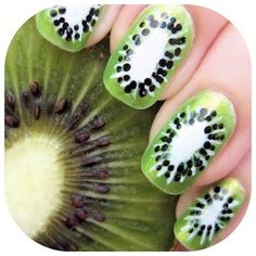 yummy! Les Nails, Nail Inspo, Flower Nails, Art Gallery, Nail Art Galleries, Nude Nails, Nail Designs, Kiwi, Manicure
