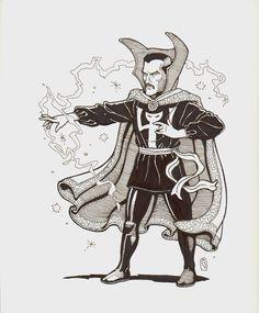 Rick Geary - Doctor Strange, in SeanWasielewski's Dr. Strange pin-ups Comic Art Gallery Room