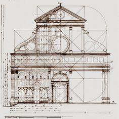Ricostruzione geometrica della chiesa di santa Maria Novella a Firenze