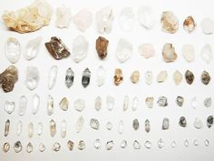 quartz in all shapes and sizes #crystals #inspo #privatearts