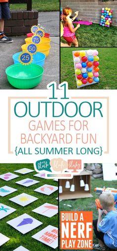 11 Outdoor Games for Backyard Fun {All Summer Long}  Outdoor Games for Kids, Games for Kids, Summer Games for Kids, Kid Stuff, Kids Activities, Summer Activities for Kids, Backyard fun for Kids, Kids Activities, Popular Pin