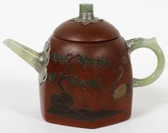 CHINESE EARTHENWARE TEA POT : Lot 102217