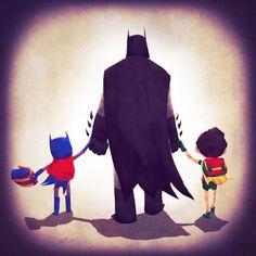 Super Heroes Families – 13 illustrations d'Andry Rajoelina | Ufunk.net