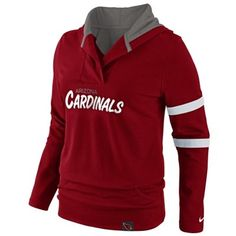 Nike Arizona Cardinals Womens Play Action Hooded Top - Cardinal