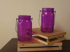 Know someone who loves purple?  Check out this cool purple mason jars! www.bloominggalsbouquets.com http://on.fb.me/1BT3HNz