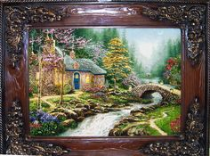 Cottage #6 Silk Persian Tableau Rug Retail Price: $8,900.00 You Save: 83% ($7,400.00) Item#: SC 8 Category: Animal Persian Tableau Rugs Artist: Thomas kinkade Size: 115 x 90 (cm) 3' 9 x 2' 11 (ft) Origin: Iran Foundation: Silk Material: Weave: 100% Hand Woven Age: Brand New KPSI: 600 You pay: $1,500.00