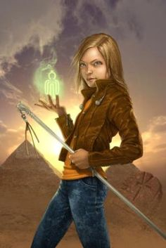 Sadie Kane from the Kane Chronicles. not really how i picture her. she looks kinda creepy.
