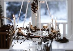 En lysekrone, du selv kan lave  Old Country Christmas candles and original candles holders available from www.christmasgiftsfromgermany.com