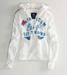 American Eagle Hoodie | Sudadera Hoodie American Eagle Outfitters Blanca Super Lqe - $ 550.00 ...