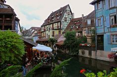 """Little Venice"" area of Colmar France. This fairy tale town has lots of French and German charm."