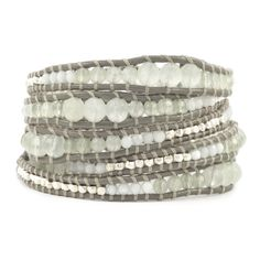 Chan Luu - Jade Mix Graduated Wrap Bracelet on Coconut Leather, $230.00 (http://www.chanluu.com/wrap-bracelets/jade-mix-graduated-wrap-bracelet-on-coconut-leather/)