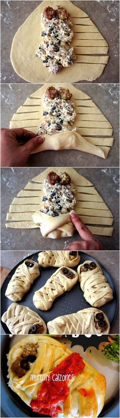 Mummy calzones. All Wrapped Up in Halloween!