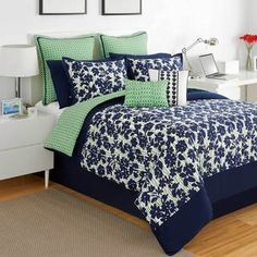 Don't like the bedding, but love the colors for the boy's rooms.