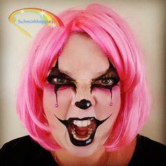 Scary Halloween Clown   Schminkkoppies Mariëlle Heuft Halloween Clown, Halloween Face Makeup