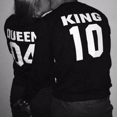 Show your love to each other with King and Queen inspiring range of matching couple shirts MatchyMatchy cute couple outfits take relationships to the next level Perfect m. Matching Couple Outfits, Matching Couples, Romantic Couples, Cute Couples, Sweatshirts, Hoodies, Long Sleeve, Relationship Goals, Relationships