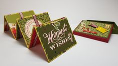 Anleitung: Zauberkarte 4: Jakobsleiter/ Zauberleiter basteln als Weihnac... Card Tutorials, Video Tutorials, Tricks, Stampin Up, Diys, Playing Cards, Christmas, Youtube, Albums