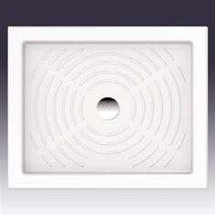 Thebe 80x65 cm. - Brusekar i enkelt og smukt fremstillet i porcelæn.  DESIGN4HOME #brusekar #brusebund #badeværelse Design