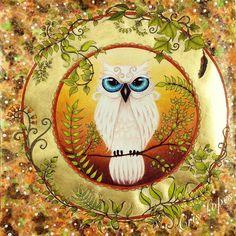 Versão Countrywood da corujinha. Floresta Encantada - Johanna Basford. #staedtlermars #editorasextante #johannabasford #coruja #owl #enchantedforest