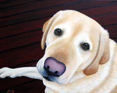 Yellow Lab, Labrador Painting