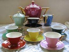 Resultado de imagem para candal ceramica Art Deco, Vintage Tea, Tea Cups, Chocolate, Tableware, Retirement, Portugal, Coffee, Image