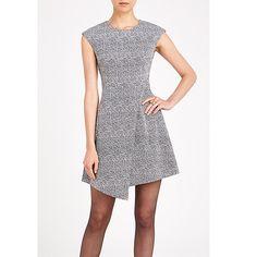 Buy Louche Elyse Textured Dress, Black/White, 8 Online at johnlewis.com