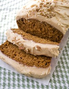 Pumpkin Bread with Pumpkin Frosting