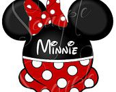 Set of Mickey and Minnie Mouse inspired Printable Character personalized digital files