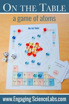 Periodic Table of Elements Activity:Atomic Structure and the Periodic Table Game - Education/Mathematik - High School Chemistry, Chemistry Lessons, Teaching Chemistry, Science Chemistry, Middle School Science, Physical Science, Science Lessons, Science Education, Life Science
