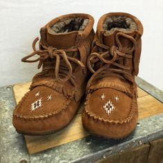 """Sheepskin Shearling Lined, Rabbit Fur Exterior. 15"""" Tall, Vibram Sole. The 'mukluk' is an Aboriginal word for 'winter boot'. Our ancestors created them thousands of years ago out of natural hides and"""