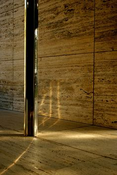 Barcelona Pavilion. Rebuilt in Barcelona, Spain. Originally built for the World Fair of 1929. Ludwig Mies van der Rohe.