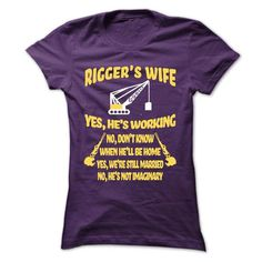my husband is rigger T Shirts, Hoodies. Check price ==► https://www.sunfrog.com/LifeStyle/my-husband-is-rigger-Ladies.html?41382