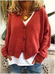 Buy Women's Fashion Winter Warm Cardigan Hoodies Coats Long Sleeve Knitted Sweaters Jackets at Wish - Shopping Made Fun Cardigan Casual, Cardigan Long, Long Sleeve Sweater, Sweater Cardigan, Velvet Cardigan, Batwing Cardigan, Loose Knit Sweaters, Cardigan Sweaters For Women, Casual Sweaters