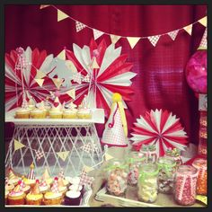 Vintage carnival birthday
