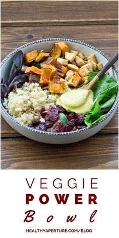 This Vegetarian Power Bowl is packed with nutrients and makes a great lunch or dinner option for busy athletes.