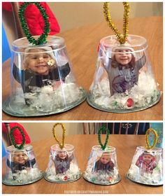 Snow Globe Cup Ornaments - Crafty Morning - Christmas/Winter Crafts for Kids - Crafts Kids Crafts, Christmas Crafts For Toddlers, Daycare Crafts, Classroom Crafts, Christmas Projects, Christmas Holidays, Kids Snow Globe Craft, Christmas Crafts For Kindergarteners, Kindergarten Christmas Crafts