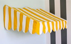 Bistro Awning MINI-Tutorial - however would need to be reduced for miniatures as this is child's room size.