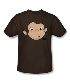 Look what I found on #zulily! Coffee Curious George Face Tee - Adult by Curious George #zulilyfinds