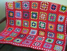 Ravelry: TheSunroom's HAPPY Granny Square Blanket