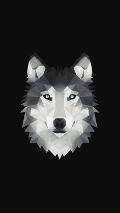Geometric Wolf Wallpaper, Dark Wallpaper, Geometric Art, Geometric Animal, Wolf Sleeve, Polygon Art, Arte Pop, Pics Art, Spirit Animal